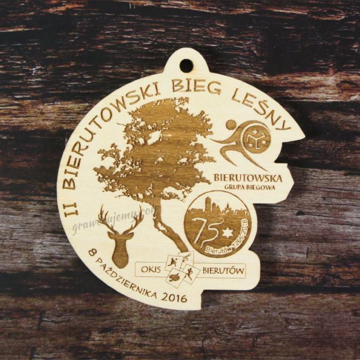 Medal drewniany Bieg leśny