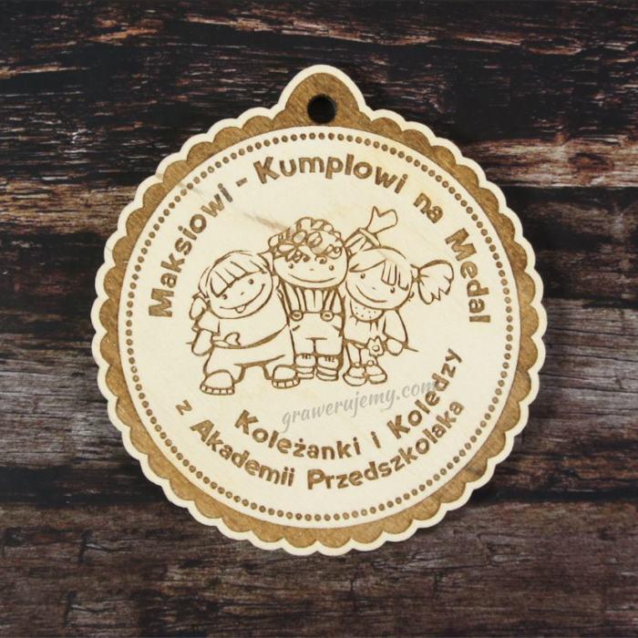 Medal Drewniany Akademia Przedszkolaka