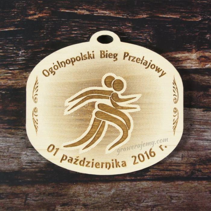 Medal drewniany Bieg przełajowy