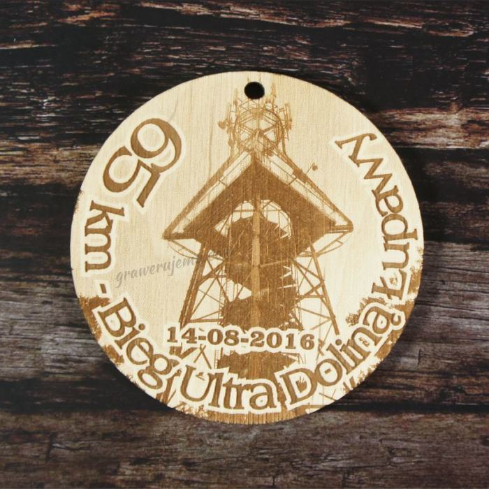 Medal drewniany Bieg Ultra