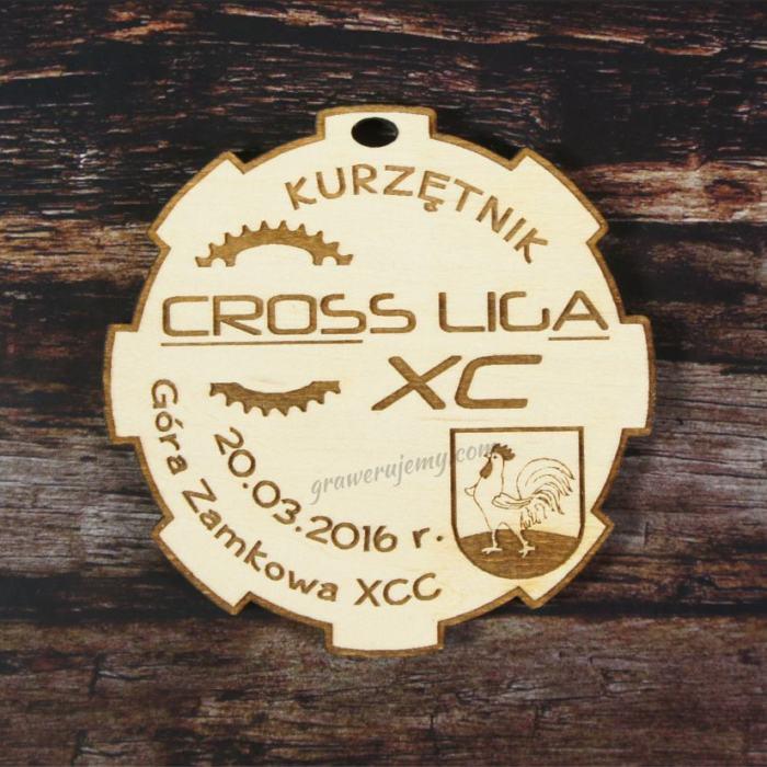 Medal drewniany Cross Liga