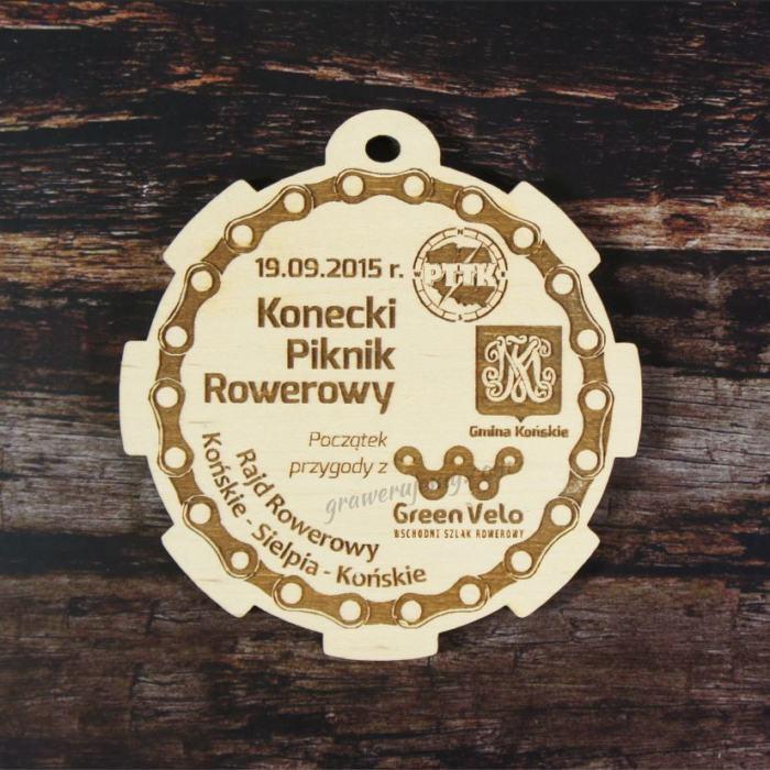 Medal drewniany Piknik rowerowy