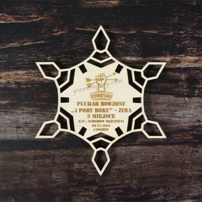 Medal drewniany 78. 4 pory roku zima