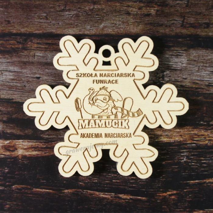 Medal drewniany 96. Akademia narciarska