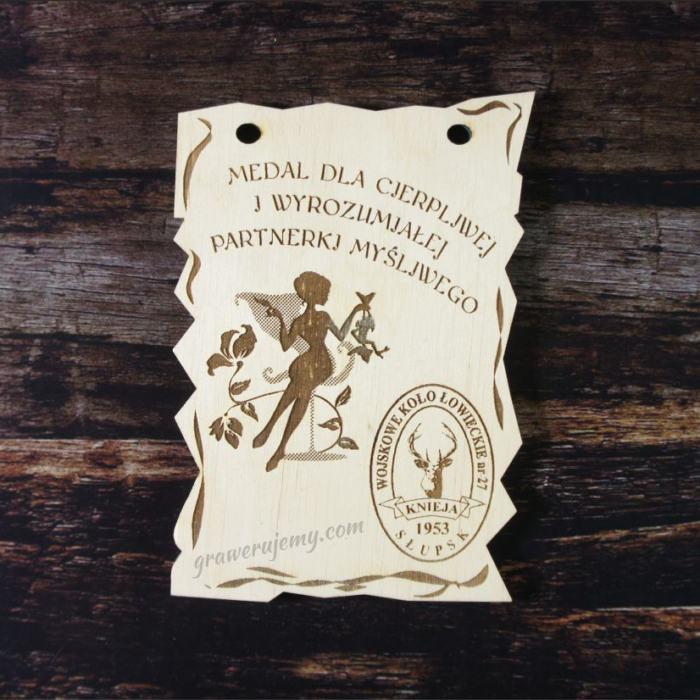 Medal drewniany 98. Wojskowe koło łowieckie