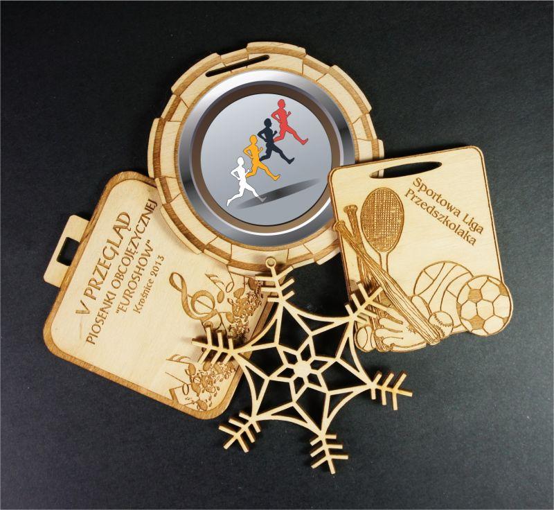drewniane medale