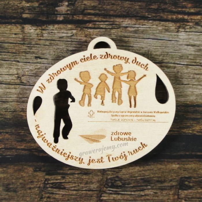Medal drewniany 219 - W zdrowym ciele zdrowy duch
