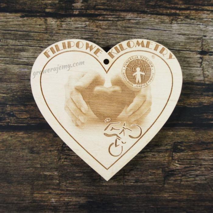 Medal drewniany 222 - serce