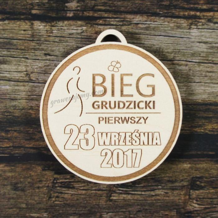 Medal drewniany 223 - Bieg grudzicki