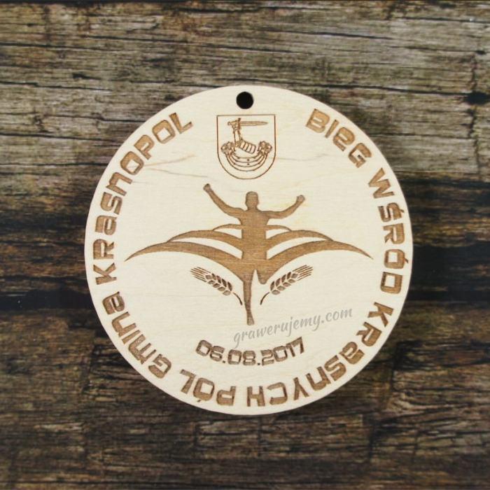 Medal drewniany 226 Krasnopol bieg