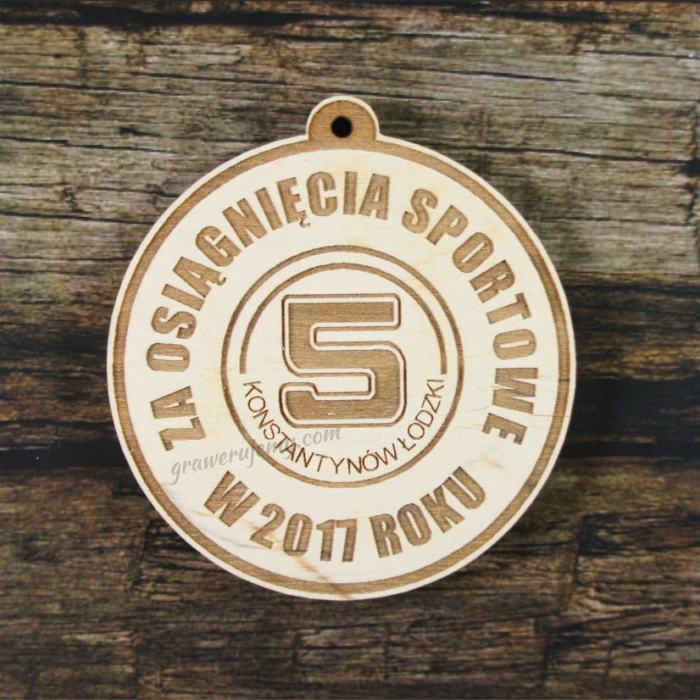 Medal drewniany 230 za osiągnięcia sportowe