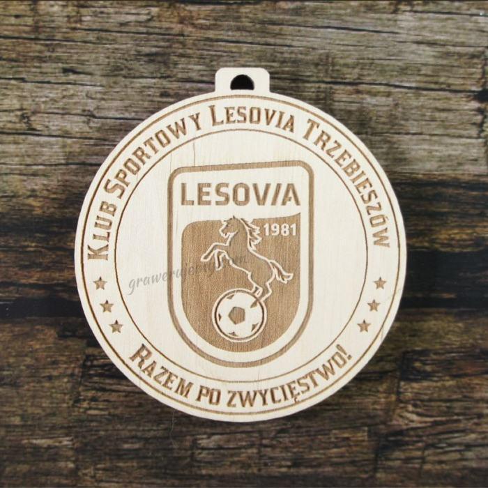 Medal drewniany 232 KS Lesovia