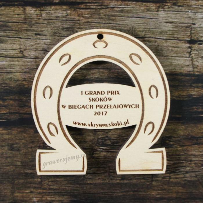 Medal drewniany 233 biegi przełajowe