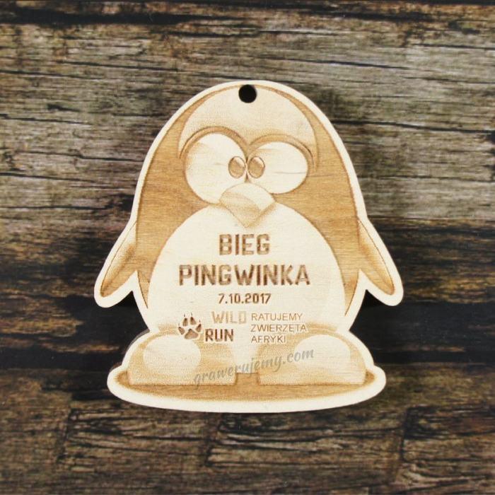 Medal drewniany 234 Bieg Pingwinka