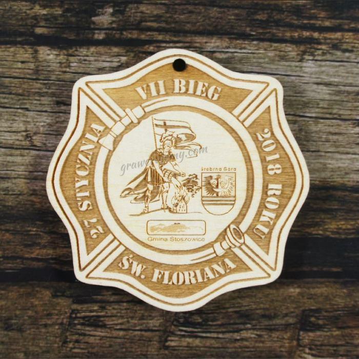 Medal drewniany 236 Bieg św. Floriana