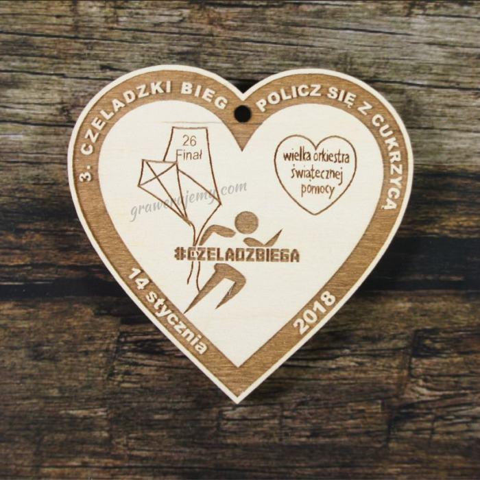 Medal drewniany 239 Policz się z cukrzycą
