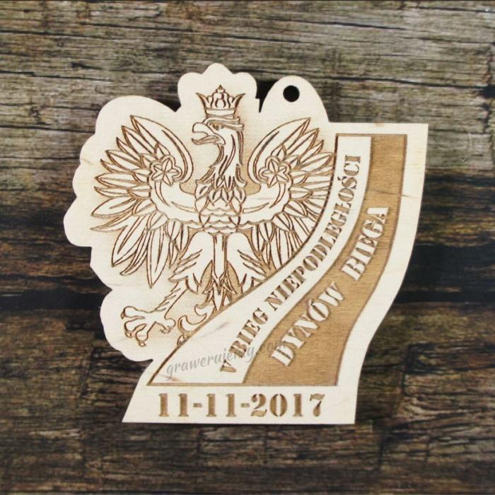 Medal drewniany 246 Bieg Niepodległości