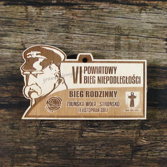 Medal drewniany 249 Bieg Niepodległości