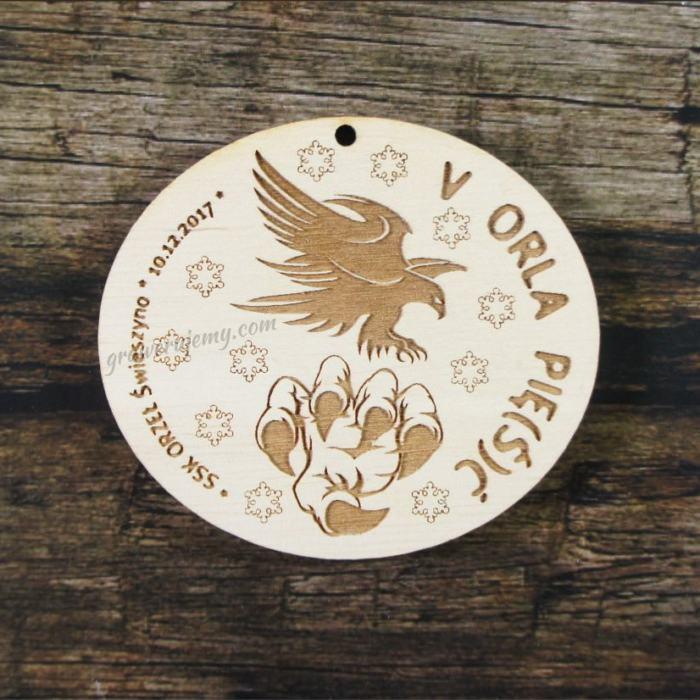 Medal drewniany 251 Orla pięść