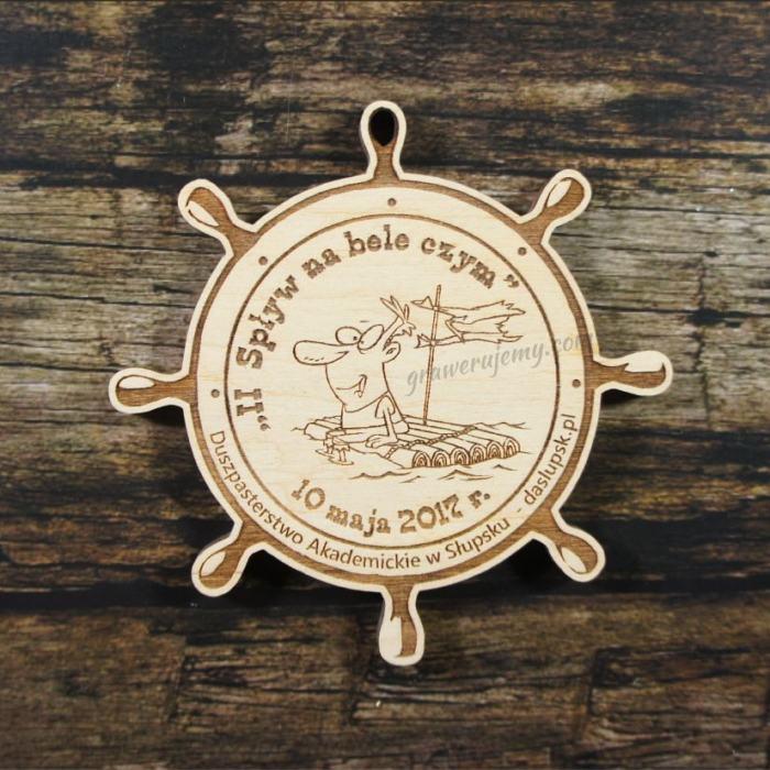 Medal drewniany 256 Spływ na bele czym