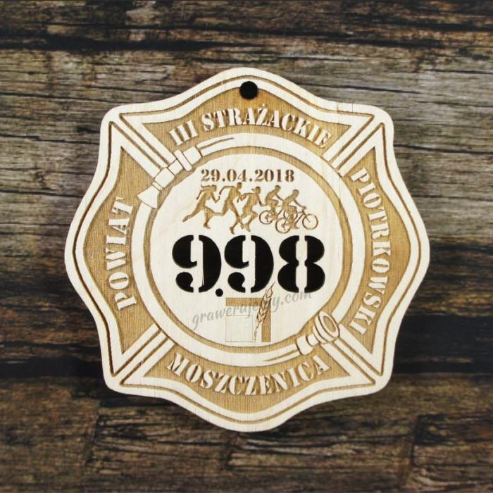 Medal drewniany 259 Strażackie