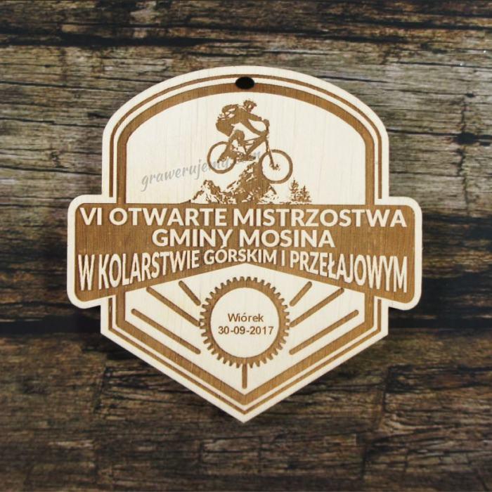 Medal drewniany 262 Mistrzostwa w kolarstwie górskim i przełajowym