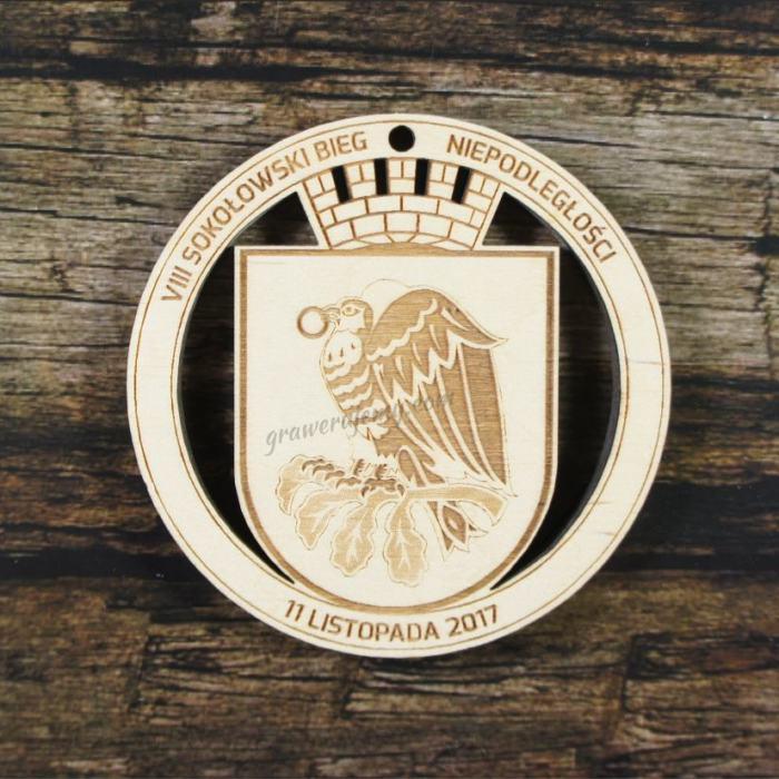 Medal drewniany 263 Bieg Niepodległości