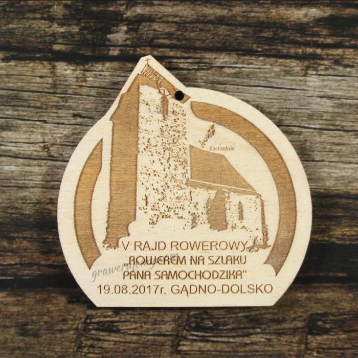 Medal drewniany 265 Rajd rowerowy