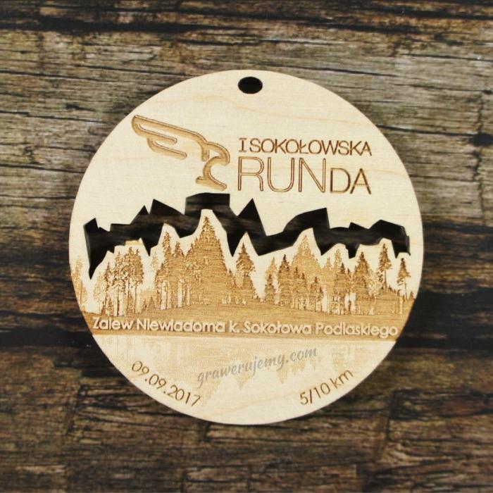 Medal drewniany 269 Sokołowska Runda