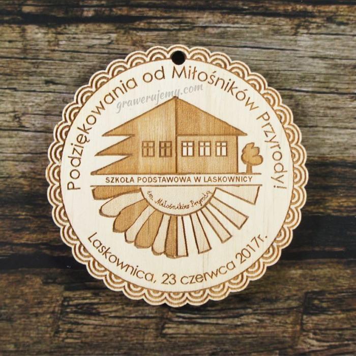 Medal drewniany 273 Podziękowania od miłośników przyrody