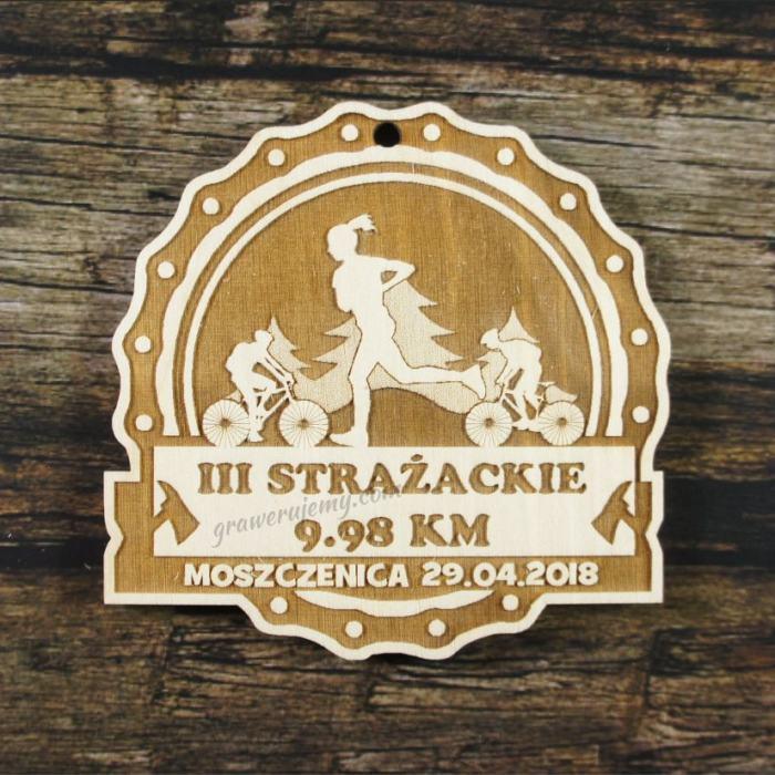 Medal drewniany 274 Strażackie