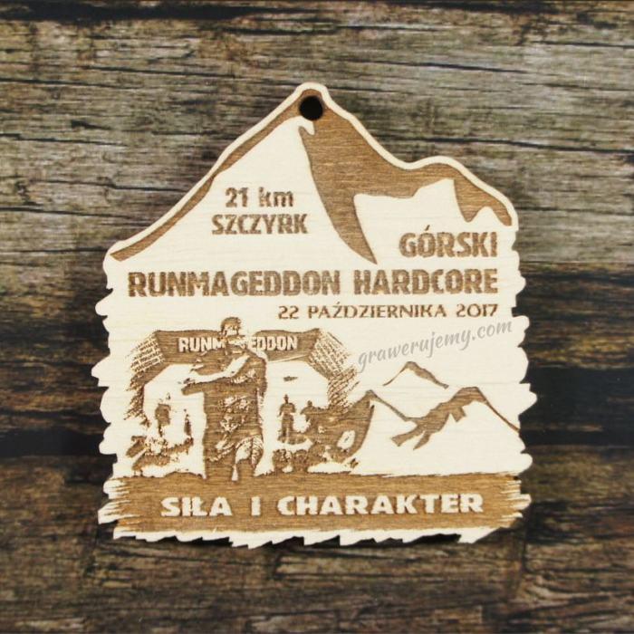 Medal drewniany 276 Runmageddon Hardcore