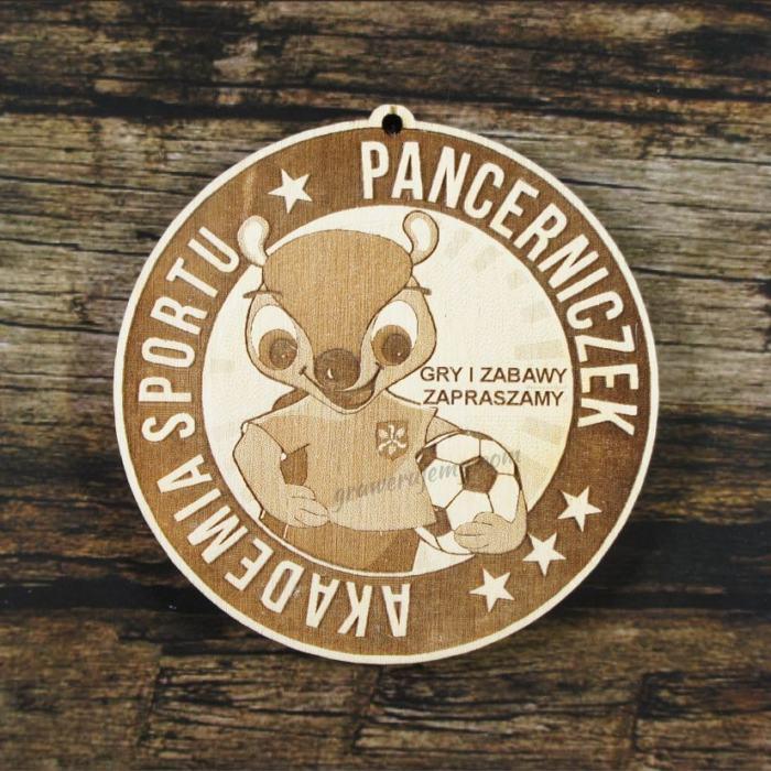 Medal drewniany 279 Akademia Sportu Pancerniczek