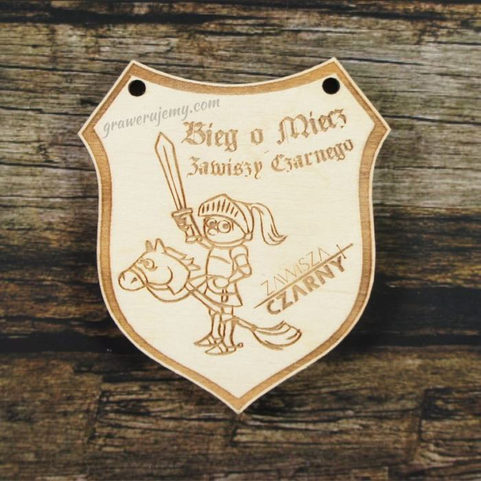 Medal drewniany 281 Bieg o miecz Zawiszy