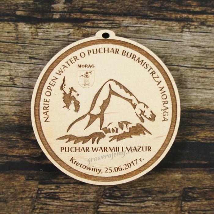 Medal drewniany 283 Pływanie