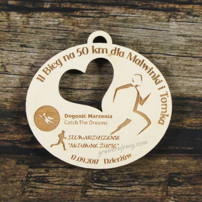 Medal drewniany 284 Bieg na 50 km