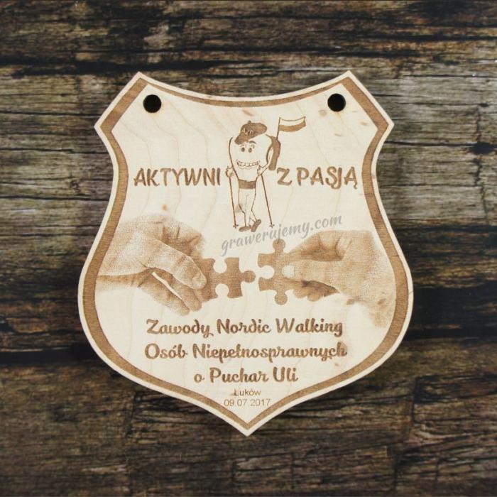 Medal drewniany 286 Zawody Nordic Walking