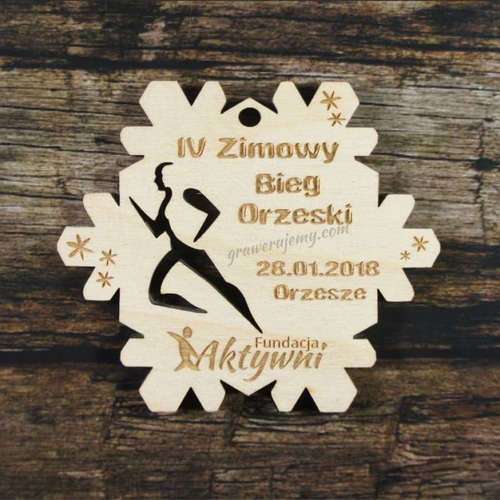 Medal drewniany 287 Zimowy Bieg Orzeski