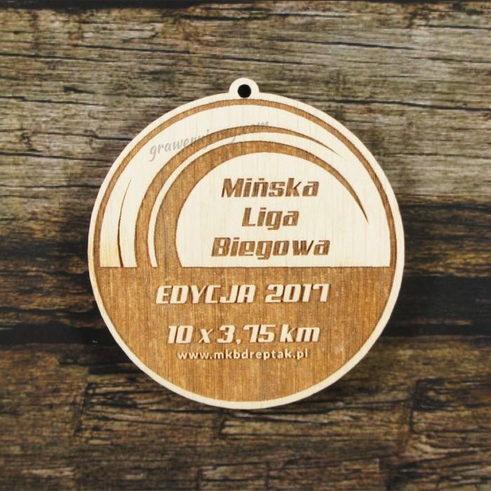 Medal drewniany 288 Mińska Liga Biegowa