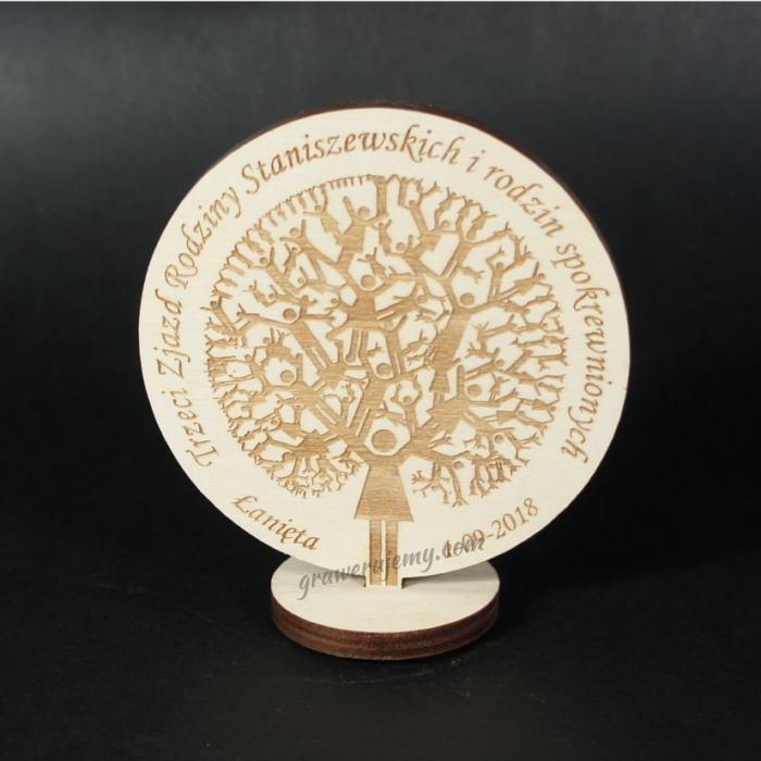 Medal drewniany stojący 10 Zjazd rodzinny