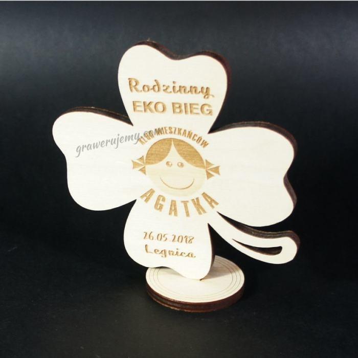 Medal drewniany stojący 11 Rodzinny Ekobieg