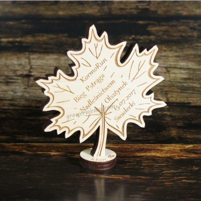 Medal drewniany stojący 14 Bieg dzieci klon