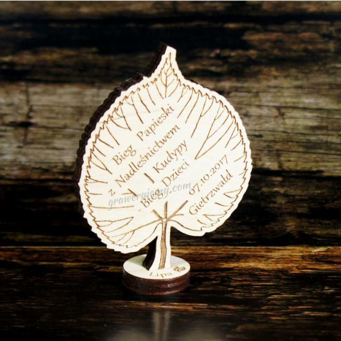 Medal drewniany stojący 15 Bieg dzieci lipa
