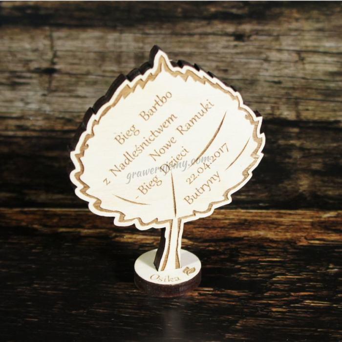 Medal drewniany stojący 16 Bieg dzieci osika