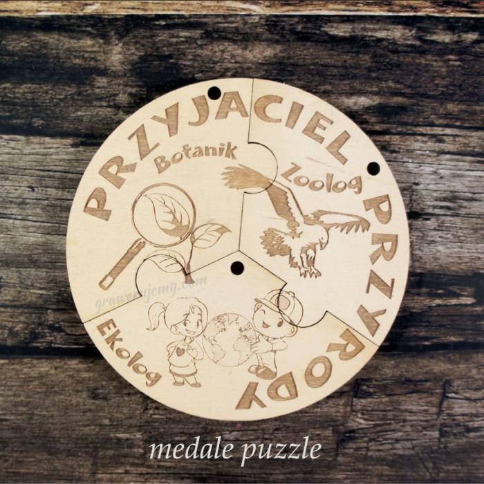 Medale puzzle, przyjaciel przyrody