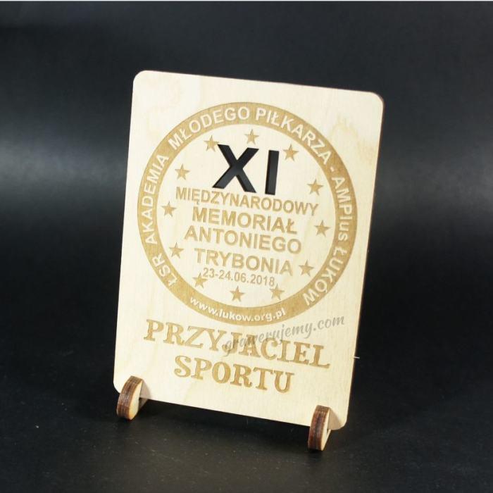 Statuetka Puchar drewniany 102 Przyjaciel sportu