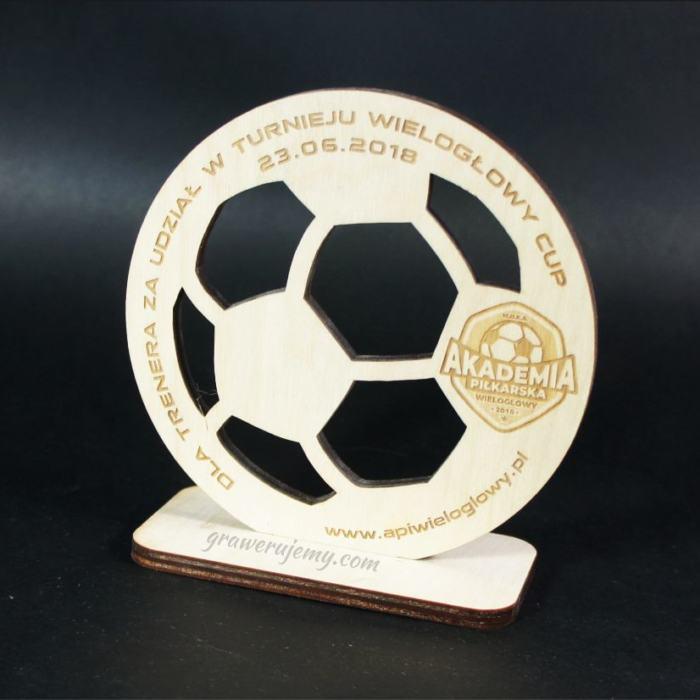 Statuetka Puchar drewniany 105 Turniej Piłki Nożnej
