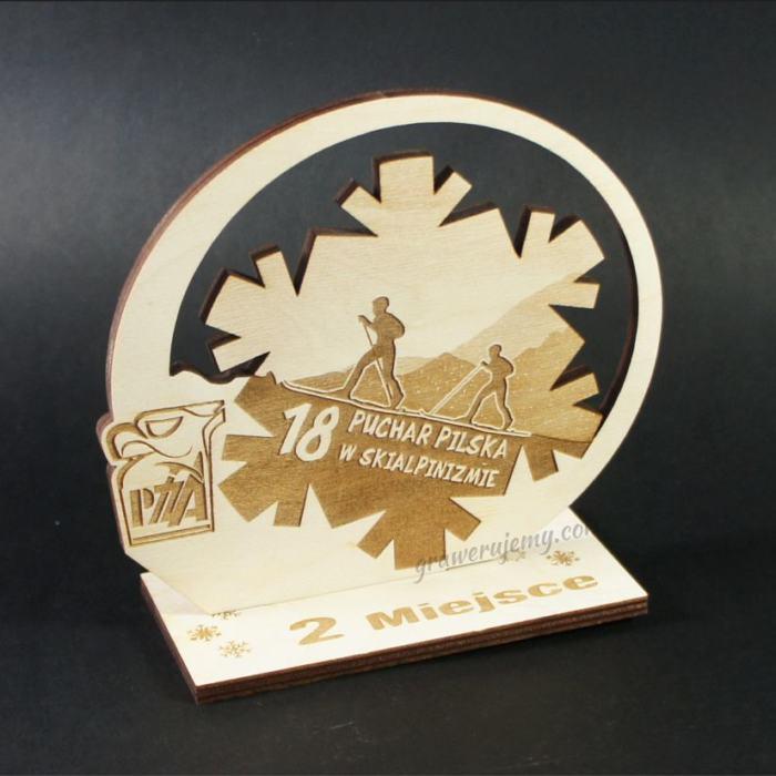 Statuetka Puchar drewniany 78 Puchar Pilska w skialpinizmie