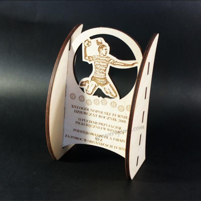 Statuetka Puchar drewniany 87 Turniej Piłki ręcznej