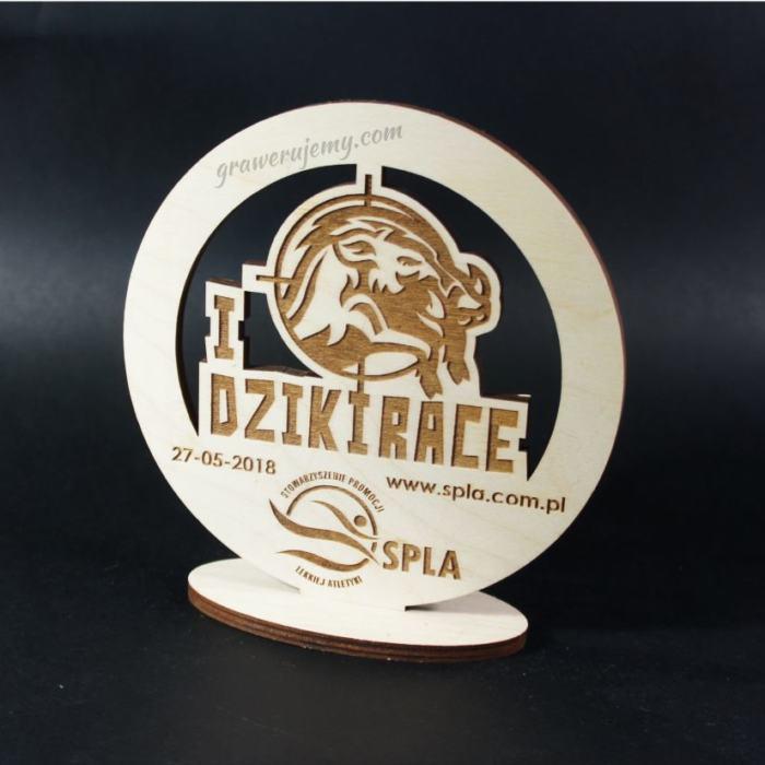 Statuetka Puchar drewniany 90 Dziki Race